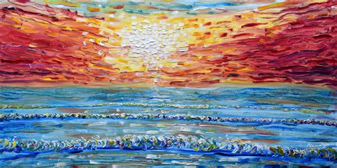 paintings for sale sunset painting for sale from woolacombe pete caswell