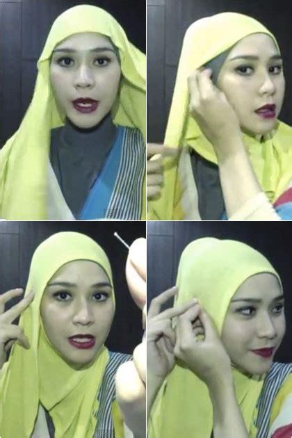 tutorial berhijab ala zaskia tutorial hijab instant ala zaskia adya mecca yang cantik
