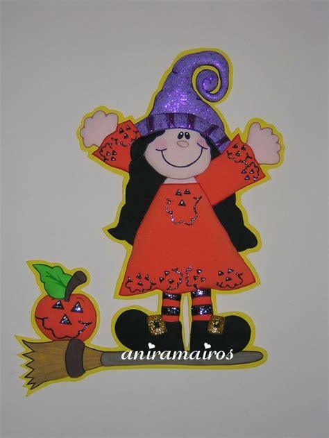 imagenes de halloween en foami tierna brujita d 237 a de muertos o halloween en foami