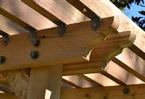 Pergola Rafter Brackets by Ozco Rafter Clips Amp Joist Hangers Lee Valley Tools