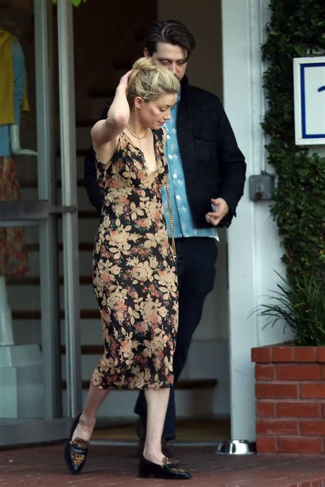 amber heard   floral dress  shopping  fred seagel