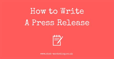 how to write a press release chat marketing