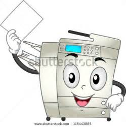 where can i find a copy machine mascot illustration featuring a copier making copies of a