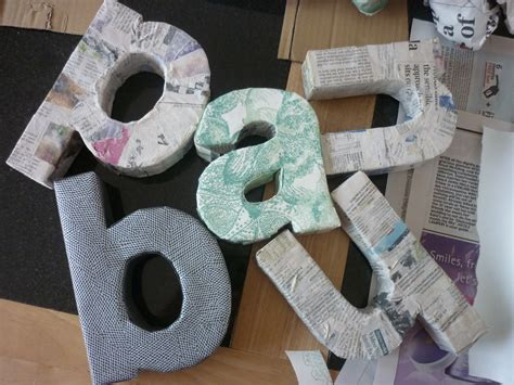 paper mache letters my type of decor diy 3d letters graphique fantastique 1528