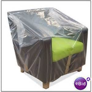armchair furniture removal clear plastic dust cover bag on
