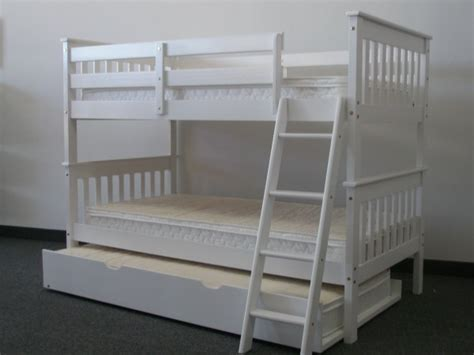 twin bunk beds white save on twin over twin bunk bed with trundle white