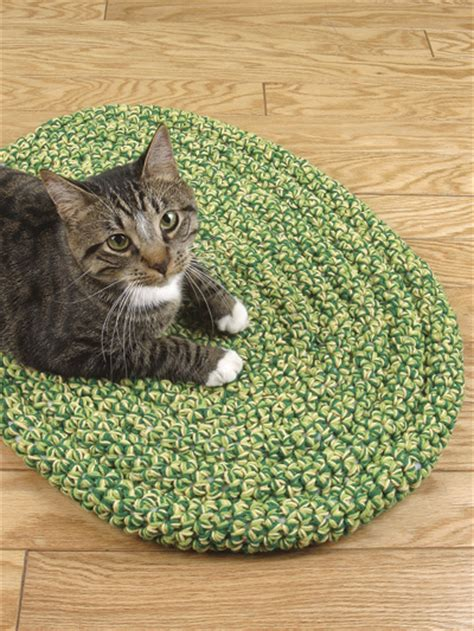rug cat crochet rug patterns coiled cat rug