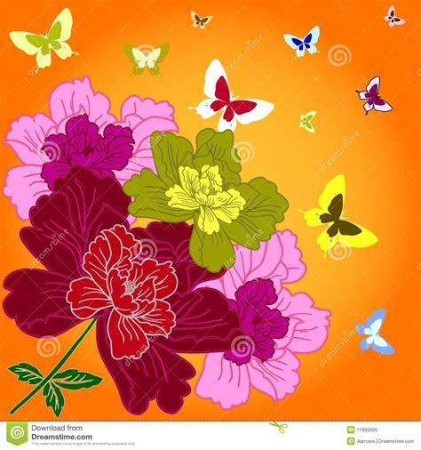 immagini fiori disegnati fiori disegnati a mano di fantasia fotografia stock libera