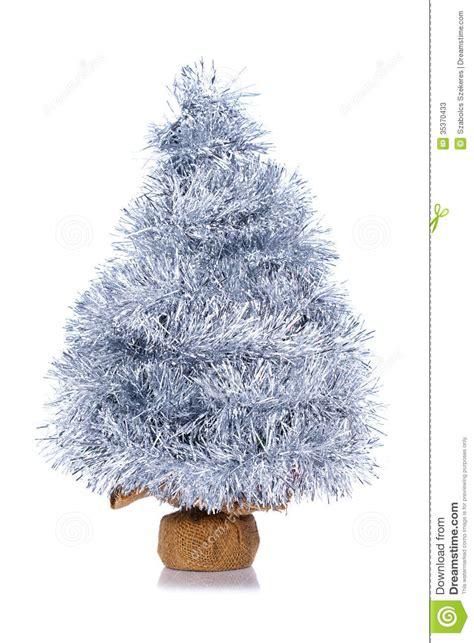 silver garland tree stock photos image 35370433