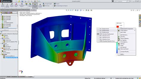 solidworks tutorial beginner 2014 solidworks 2014 sneak peek results interaction in simulation