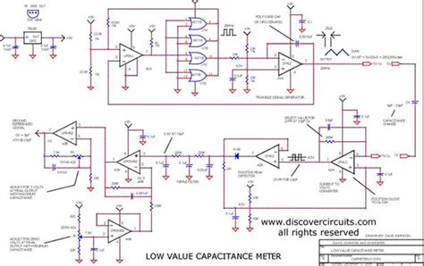 capacitance meter schematic diagram circuit low value capacitance meter circuits designed by david a johnson p e