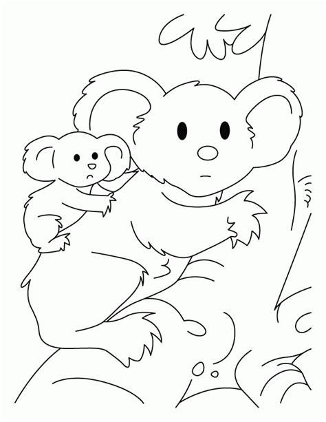 christmas koala coloring page koala bear pictures to color coloring home