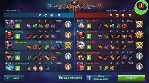 mobile legend rank team mobile legends