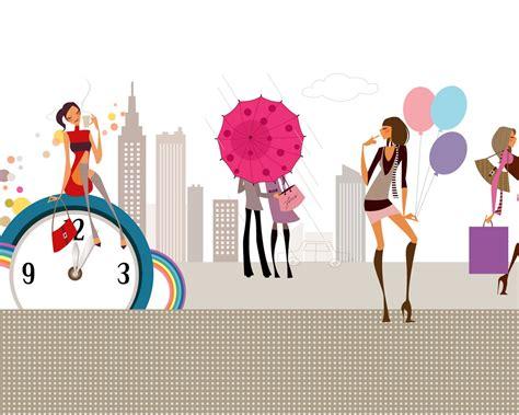 imagenes para fondo de pantalla fashion moda vectoriales chicas wallpaper 1 3 1280x1024