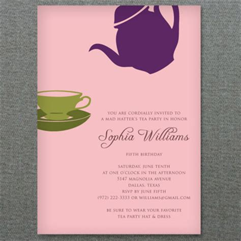 7 Best Images Of Free Printable Tea Party Program Template Tea Bag Invitations Template Tea Teacup Invitations Template