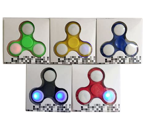 color finger anti stress color changing led fidget finger spinner