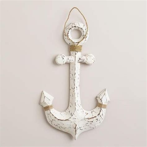 Anchor Home Decor by White Wood Anchor Decor For The Bathroom For The Home