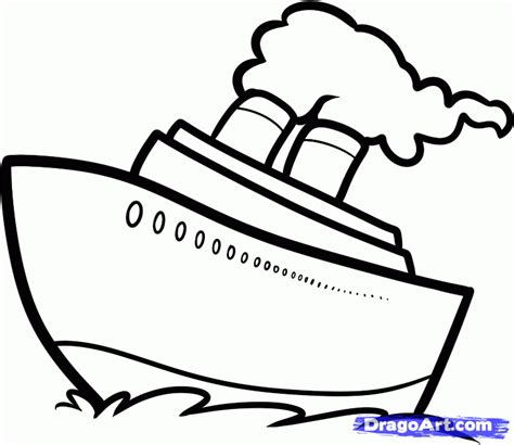 how to draw a simple easy boat how to draw a ship easy step by step boats