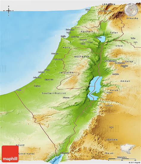 Search Israel Physical Map Of Israel Search Engine At Search