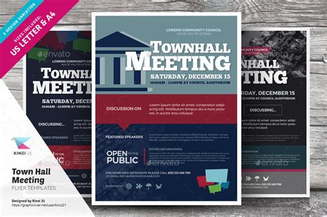 Town Invite Template Town Hall Meeting Flyer Templates By Kinzi21 Graphicriver
