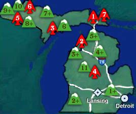 Michigan Ski Resorts Map by Map Of Michigan Ski Areas For Pinterest
