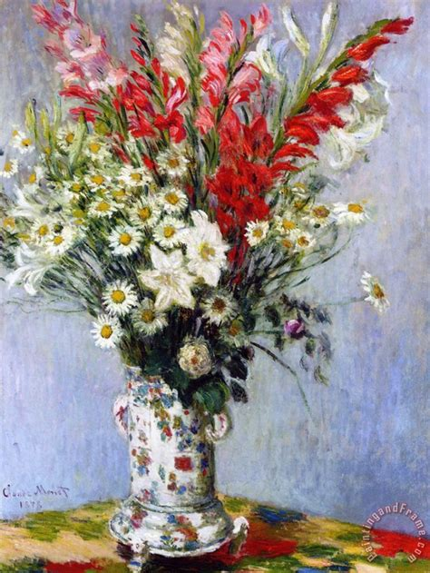 Painting Flowers In A Vase by Claude Monet Vase Of Flowers Painting Vase Of Flowers