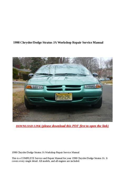 books on how cars work 1998 dodge stratus 1998 chrysler dodge stratus ja workshop repair service manual by buhbu issuu