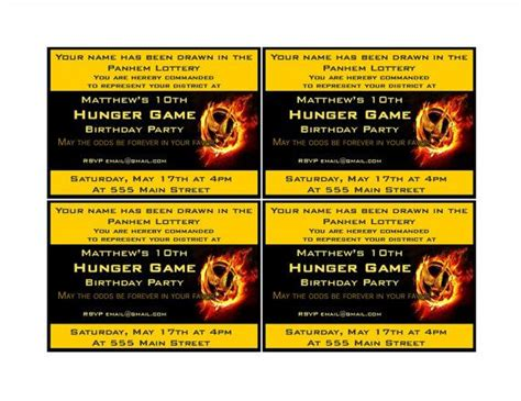 hunger id card template hunger invites best birthday on