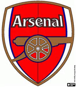 arsenal colors free coloring pages of arsenal logo