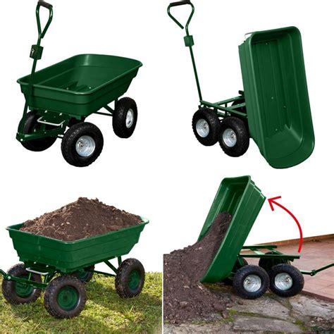 chariot remorque de jardin vert basculant chariots et