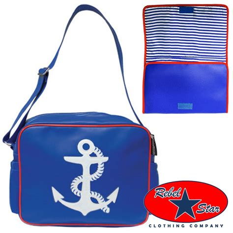 anchor nappy bag 70s cool rock rockabilly