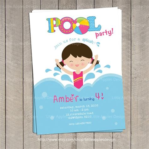 printable pool party invitations resumess franklinfire co