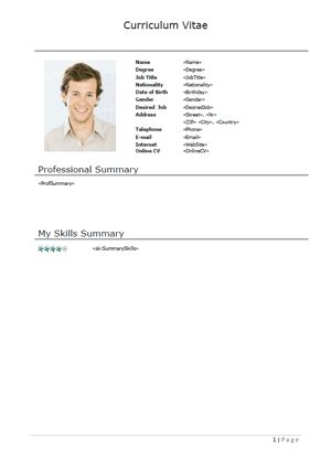 Cv Template Xing Comoto Resume Template Gallery