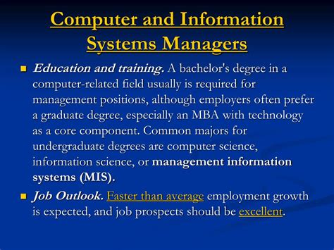 Mba Computer Information Systems by Ppt The Mis Major At Unc Management