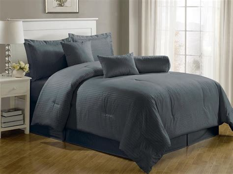 Grey Comforter by Total Fab Charcoal Grey Comforter Bedding Sets