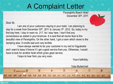Complaint Letter About Hotel Management Writing Complaint Letter