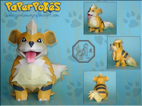 paperpok 233 s pok 233 mon papercraft growlithe new