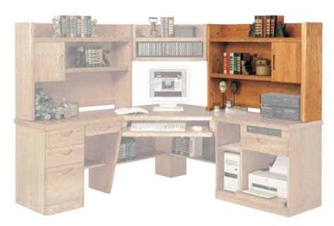 Oak Corner Computer Desk With Hutch Oak Corner Computer Desk With Hutch Images