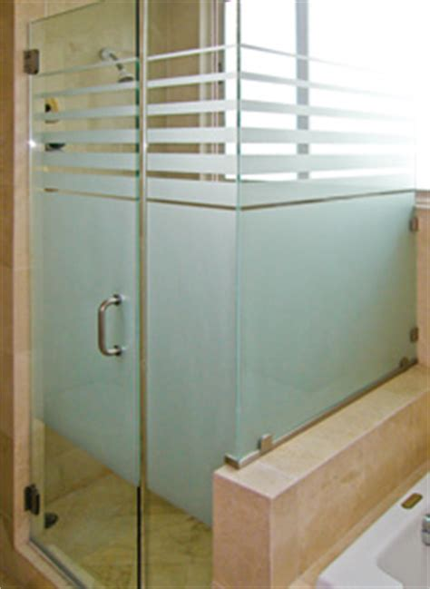 Does The Frameless Shower Doors Choosing Acid Etched Glass Or Sandblasted Glass Dulles