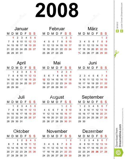 Calendario Z 2008 Calendar Stock Photography Image 3810912
