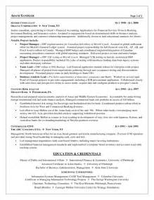 Sle Resume For Experienced Analyst Business Analyst Objective In Resume 100 Images Resume Sle Business Analyst Business
