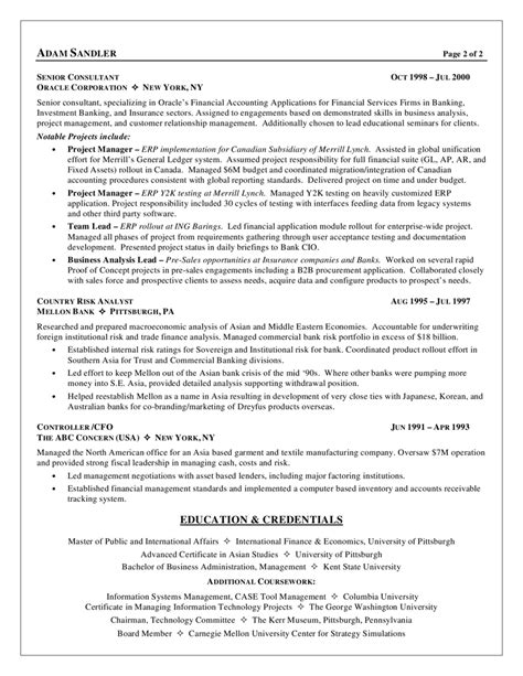 resume sles for business analyst entry level