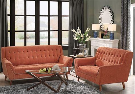 Orange Living Room Sets Erath Orange Living Room Set From Homelegance Coleman Furniture
