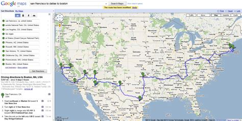 usa map routes the road trip across america san francisco to boston