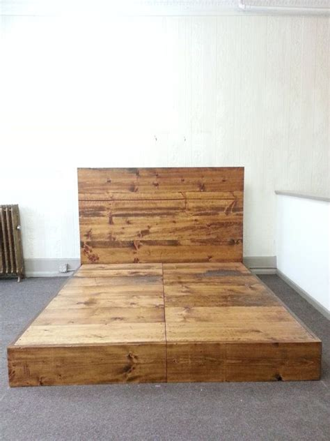 rustic industrial bed frame  headboard bed frame