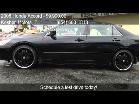 2006 honda accord ex v 6 sedan leather rims xm r for sale