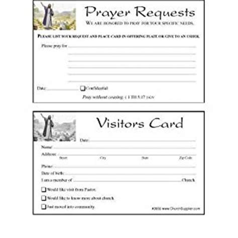 amazon com church visitor s card and prayer request