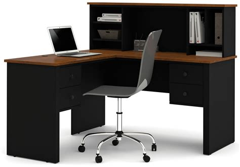 bestar somerville l shaped desk with hutch somerville black tuscany brown l shaped desk with hutch
