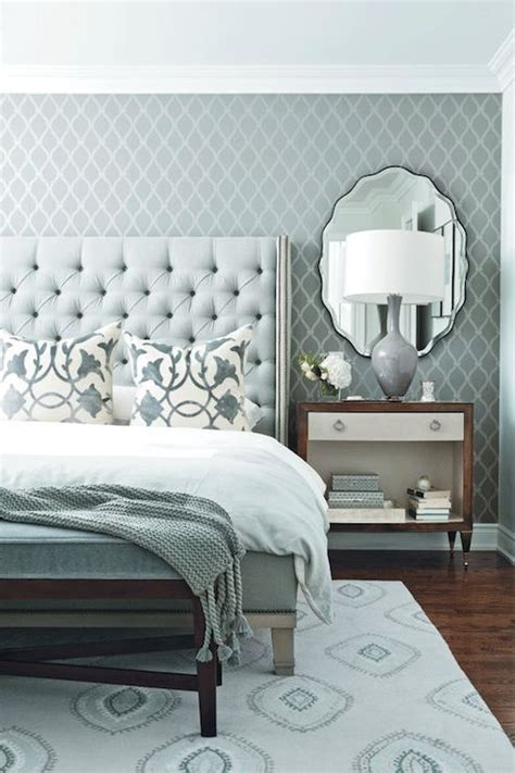 grey wallpaper master bedroom blue and gray bedroom contemporary bedroom chatelaine