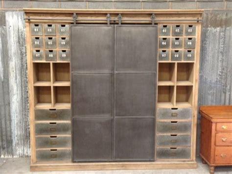 sliding kitchen cabinet doors uk large vintage industrial style cabinet metal haberdashery
